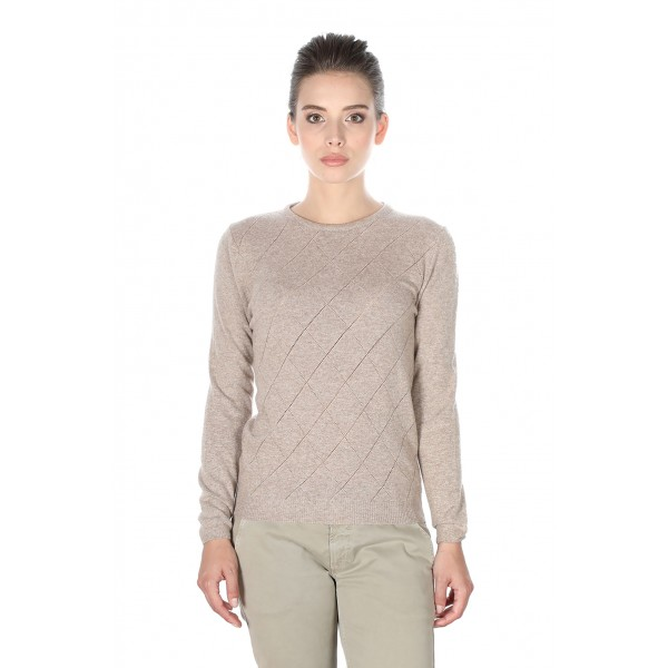 PERFORATED CREW NECK WOMAN