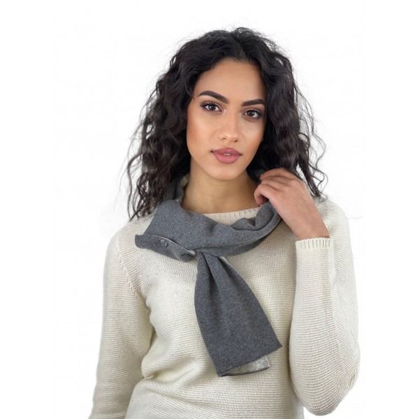 BICOLOR SCARF 2 BUTTONS